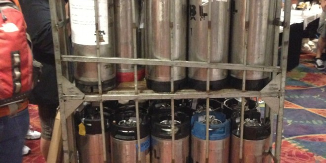 Some of 2000 kegs at NHC
