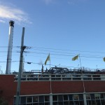Milton Brewery smoke stack