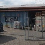 Loading area at Asheville Brewing