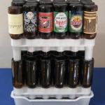 Beer Rack with stacked 12oz bottles