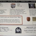 Beer Menu #3/3