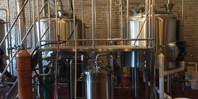 Brewery setup at Clockworks Brewing