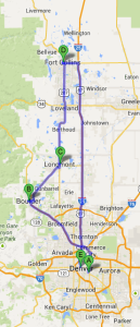 Colorado visit route