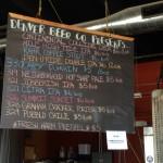 Denver Beer chalkboard