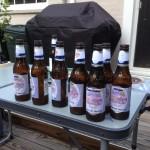 Empty hop challenge bottles