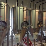Fermentation vessels at Vintage Brewing