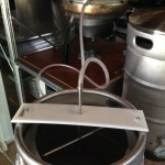 Fly sparge arm
