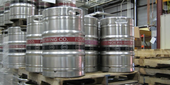 Founder's Brewing new kegs