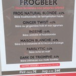 Frog XVI beer selection