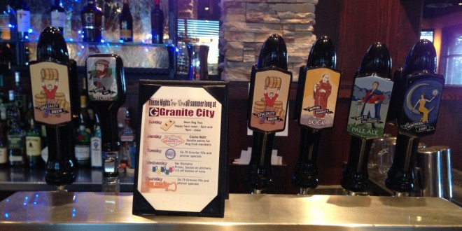 Granite City tap handles