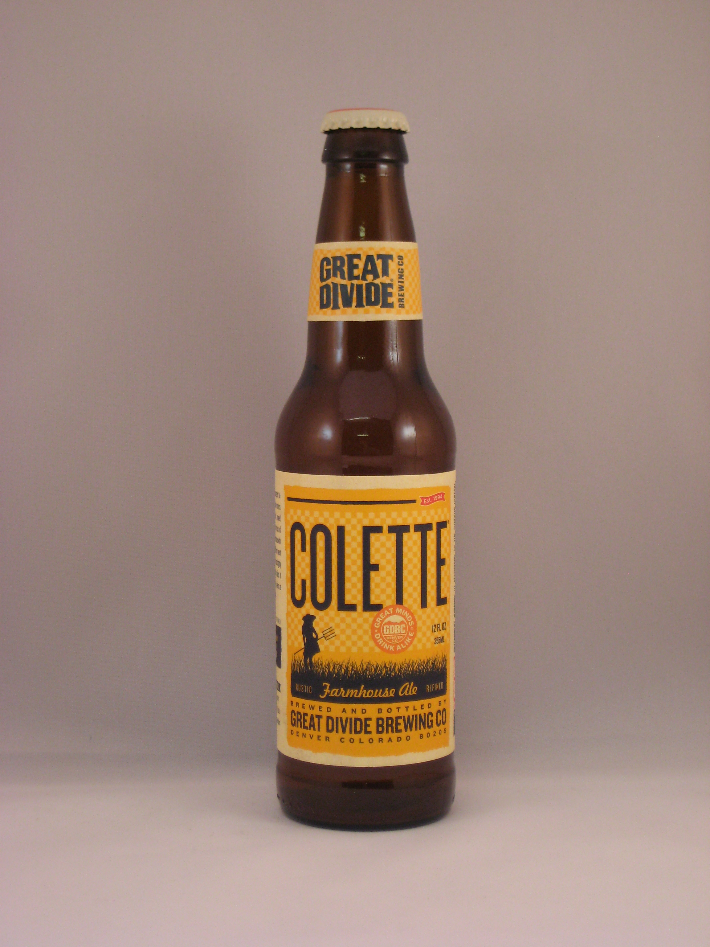 b3a322c377 Great Divide Colette (Saison) by Great Divide Brewing Company.