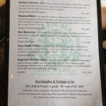 Green Man Brewery menu (side B)