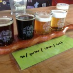 Green Man Brewery sampler