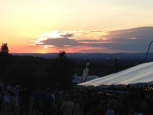 Sunset over Happy Valley