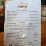 Hi-Wire Brewing menu