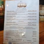 Hi-Wire Brewing menu