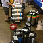 Kegs of homebrew at the Social Club