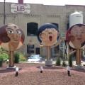 Face sculptures from Fermenter Vessels