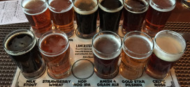 Lancaster Brewing sampler flight