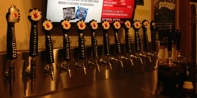 Left Hand Brewing tap handles