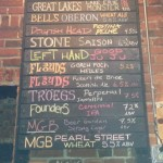 Nano Brew beer menu