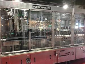 Krones bottling line in action
