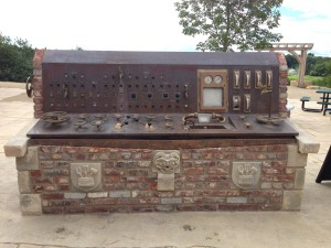 German brewery control panel in beer garden