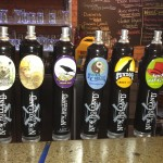 Tap handles at New Holland Brewing