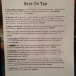Old Forge Brewing beer menu