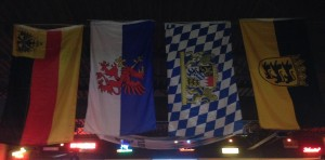 Bavarian and German flags