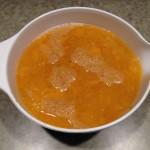 Pumpkin pulp in water