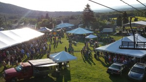 Aerial shot of State College Brew Expo