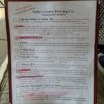 Selin's Grove Brewing menu