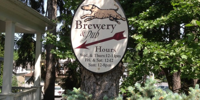 Selin's Grove Brewing sign