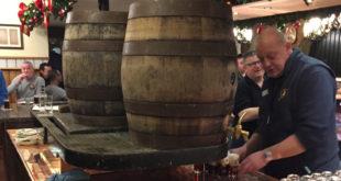 Serving Altbier from cask