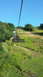 Ski lift up to VIP Area