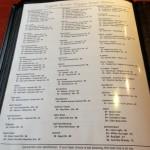 Beer list at Sugar River Pizza