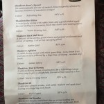 Theakston's Brewery beer menu