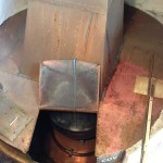Theakston's Brewery boil kettle