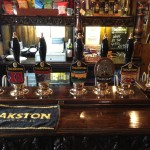 Theakston's Brewery tap handles