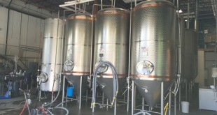 Fermentation tanks at Whistler Brewing