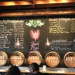 Wicked Weed Brewing tap handles & chalk board