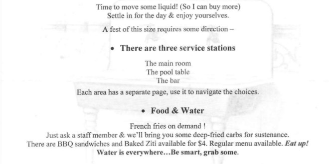 Zeno's Kitchen Sink Fest 2 - instructions