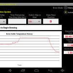 Brewing temperature profile