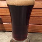 Taster sample of the Belgian Dark Strong Ale