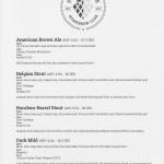 Beer list #1/2