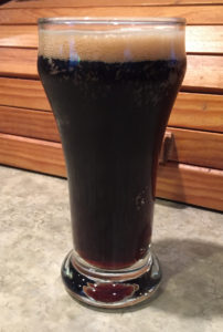 Sample taster of the Oatmeal Stout