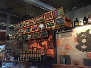 Taps & beer menu at Dangerous Man Brewing