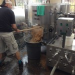 Jim emptying the Mash Tun