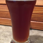 Taster sample for the English Barleywine